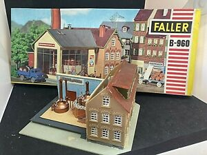 FALLER HO/OO B-960 BUILDINGS - BREWERY FACTORY - STARTED WITH ORIGINAL BOX