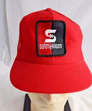 Safety Kleen Red Trucker Baseball Hat Snapback Made USA Vintage 80's