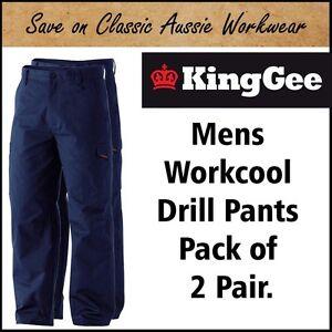 KING GEE WORKCOOL INDUSTRIAL WORK PANTS TROUSERS <Pack of 2> K13800 - 17 SIZES