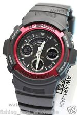 AW-591-4A Red Black G-Shock Men's Watches Casio Digital Analog Resin Band 200m