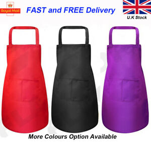Kitchen Apron Chef Home or Catering Apron with Front Pockets ADULT