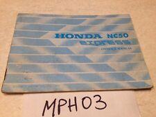 Manuel propriétaire Honda NC50 NC 50 Express 50NC owner's manual éd.77