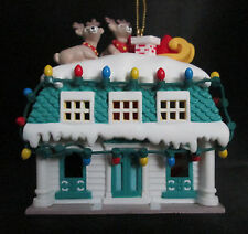 Santa's Best Up on The Roof Top 1st Edition Santa Christmas Charmers Ornament