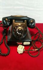 Vintage Ericsson rotary dial telephone black bakelite early 50s made in holland