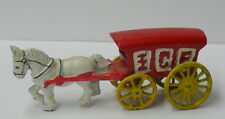 VINTAGE HORSE DRAWN ICE WAGON >> CAST IRON