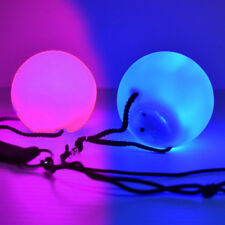 Pair of LED Spinning Poi - 6 Color Changing Modes NEW - Poi Discoloration Defect