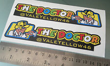 """Valentino Rossi """"THE DOCTOR"""" Windscreen Decal / Stickers ValeYellow46 (NEW!!)"""