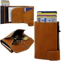 TONY PEROTTI RFID Kartenetui Limited Edition Aluminium Leder Kreditkarten Etui