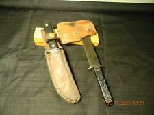 VINTAGE HATCHET AXE AND KNIFE FROM IMPERIAL OUT OF ROV. R.I. U.S.A.
