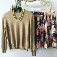 Vtg 90s FORENZA Limited HIGH WAIST Pleat BAROQUE Rose FLORAL Print MINI Skirt M