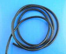 5x10M Cordon en cuir Noir Rond 3mm