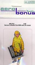 Aires-German Luftwaffe pilota WWII with Life Jacket modello-KIT 1:48 NUOVO OVP