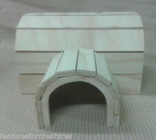 FORREST GREEN PINE PLY WOOD TWIN TUNNEL HOUSE CAGE/RUN, SMALL RABBIT,GUINEA PIG