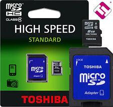 8GB MICRO SD TOSHIBA MEMORIA CLASE 4 MICROSD 8 GB TARJETA + ADAPTADOR C08GJ_BL5A