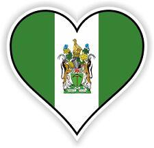 RHODESIA HEART vinyl STICKER bumper decal gift LOVE FLAG BIKE MOTO LAPTOP TABLET