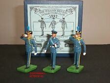 Britains 3072 raf couleur escadron drill sergent + clairons metal toy soldier set