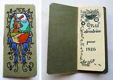 CALENDRIER ART DECO ANCIEN / 1926 POCHOIR / HUILERIE SAVONNERIE A MAUSSANNE / 4