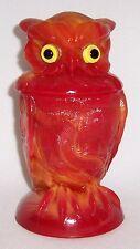 Imperial Mold Geraldine Delight Red (Slag) Glass Owl/Summit Art Glass Company