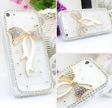 Handmade Bling Clear Crystal Diamonds Soft TPU back thin Phone Case Cover Skin 5
