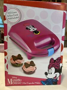 Disney DMG-7 Minnie Mouse Cupcake Maker, Mini, Pink+ Bow Candy Mold+ Liners