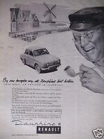 PUBLICITÉ 1958 DAUPHINE RENAULT - ADVERTISING