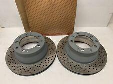 Porsche Genuine 968 Rear Disc Rotors Sebro Coated 95135204191 NOS
