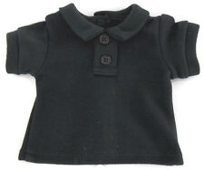Doll Clothes fits American Girl Bitty Baby Black T-Shirt Polo Boy Twin