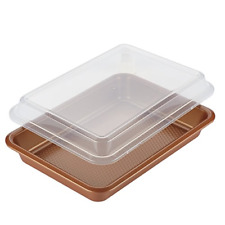 Ayesha Bakeware Covered Cake Pan, 9-Inch x 13-Inch, Copper