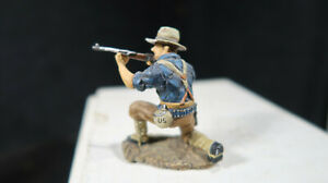 King and Country Metal US Rough Rider RR14 Kneeling Firing GETTING SOME