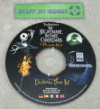The Nightmare Before Christmas The Pumpkin King - Press Kit Nintendo GBA Rare