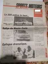 SPORTS ET MOTEURS N°3 21/01/1986: PARIS DAKAR DECES DE THIERRY SABINE - 205 CAB.
