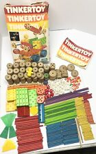 Vintage Tinkertoy 375+ In A Set #550 Box With Instructions & Character 1983