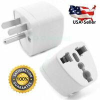 2 Pcs Universal EU UK AU to US USA AC Travel Power Plug in Adapter Converter