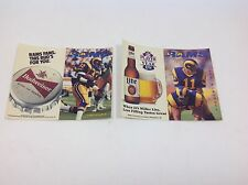 1988 & 1989 LOS ANGELES RAMS FOOTBALL SCHEDULES ~ Never Folded