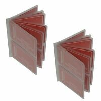 Set of 2 Clear Plastic Inserts Credit Card Replacement Holder Wallet 3 5/8 x 5""