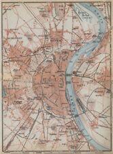 KÖLN COLOGNE. Nippes Mülheim Deutz Kalk Sulz Lindental Ehrenfeld Riehl 1926 map