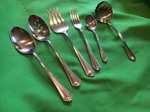 Lot of 6 Pc Oneida USA Juilliard Heirloom Stainless SERVING & Dinner Fork Pieces