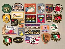 Vintage Lot 25 USA STATES PUERTO RICO CANCUN MUIR WOODS Travel Souvenir PATCHES