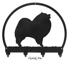 Swen Products Keeshond Dog Black Metal Key Chain Holder Hanger