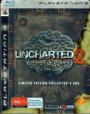 Uncharted 2 Among Thieves Limited Edition Collector's Box (Steel) PS3  2009 (VG)