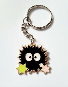 Soot Sprite Spirited Away Totoro Womans Kids Keychain Keyring Gift UK
