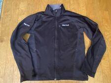 MARMOT Mens Black Gore Windstopper Soft Shell Zip Up Jacket Lightweight Size M