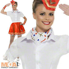 Air Hostess Skirt & Hat Kit Laides Fancy Dress Cabin Crew Adults Costume Acc