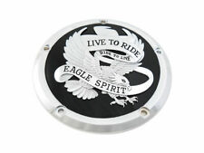 Eagle Spirit Derby Cover Black for Harley Davidson by V-Twin