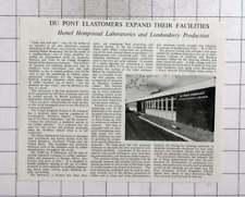 1959 New Dupont Laboratories In Hemel Hempstead And Londonderry
