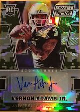 VERNON ADAMS JR. #255 also # 80/199 made RC Auto 2016 PRIZM DRAFT mint from pack