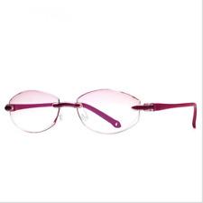 New Fashion Lady Rimless Lens Eyewear Reader Reading Glasses 1 1.5 2 2.5 3 3.5