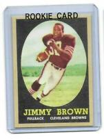 1958 Topps # 62 JIM BROWN ROOKIE RC REPRINT Cleveland Browns Sharp LOOK !