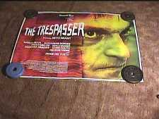 TRESPASSER ORIG BRITISH QUAD 30x40 MOVIE POSTER ROLLED SS HORROR
