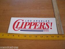 """1985 Los Angeles Clippers 9"""" bumper sticker VINTAGE decal Pep Boys"""